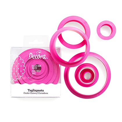 Round Cookie Cutters - 6 Pcs