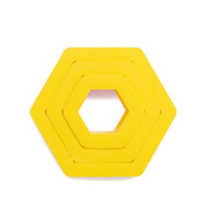 Hexagon Cookie Cutters 3 Pcs
