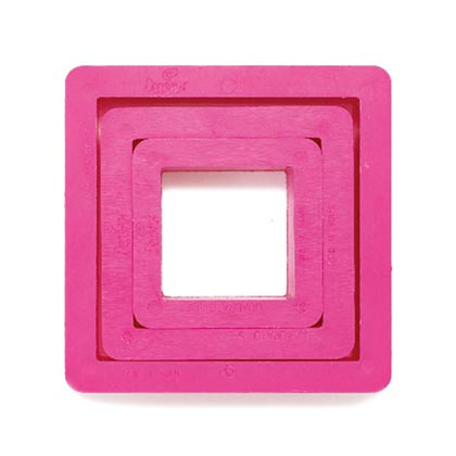 Square Cookie Cutters 3Pcs