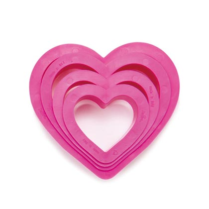 Heart Cookie Cutters -4 Pcs