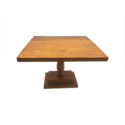 Square Wooden Cake Stand