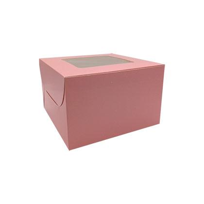 8X8X5 Pink Cake Box - 10 pcs