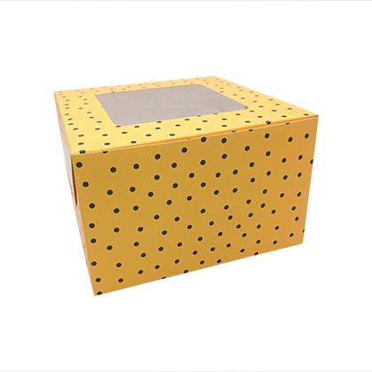 8X8X5 Colourful Cake Box - 10 pcs