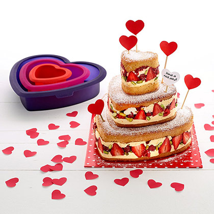 Lekue Layer Heart Cake Kit