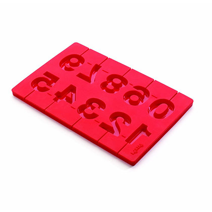 Silicone Lollipop Number Mould by Lekue