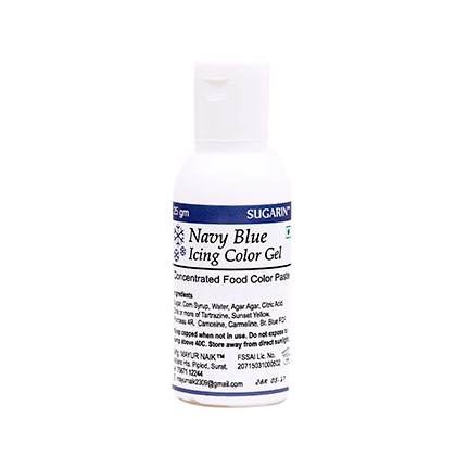 Sugarin Navy Blue Icing Gel Color
