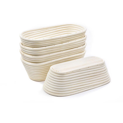 25 cms - Oval Bread Proofing Basket 6pcs