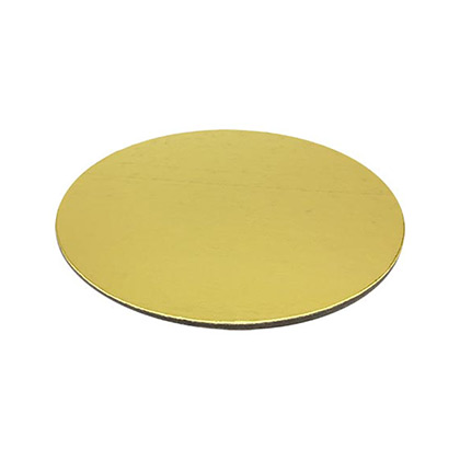 Golden Round Cake Base - 12 inch - 50pcs