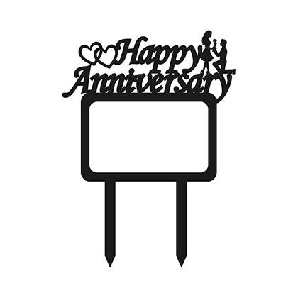 Happy Anniversary Frame Cake Topper