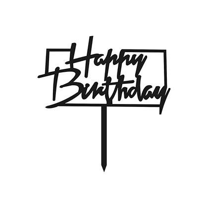 Happy Birthday Boxy Cake Topper