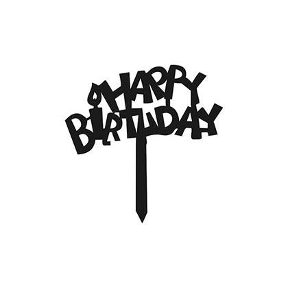 Small Happy Birthday Design 1 Topper