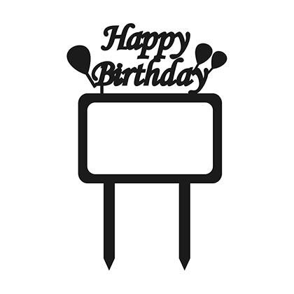 Happy Birthday Frame Cake Topper