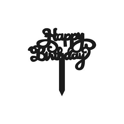 Bold Happy Birthday Design Topper