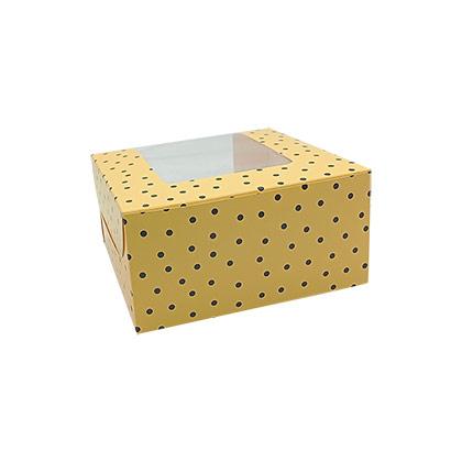 4 Cavity Colorful Cupcake Packaging Box