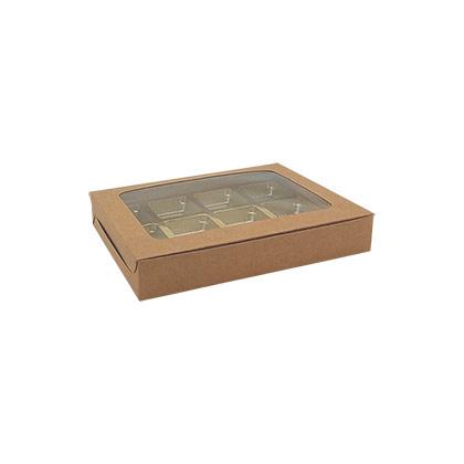 12 Cavity Kraft Chocolate Box - 50pcs