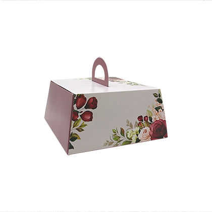 10 inch Cake Box with Handle - 50 pcs