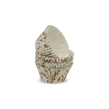 Cream Floral Cardboard Baking Cups