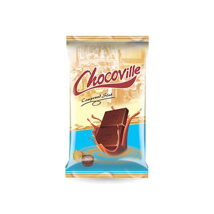 Chocoville White Compound Chocolate Slab