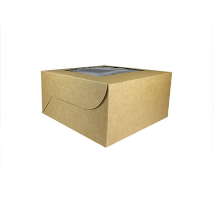 Kraft Paper Cake Box with Window - 8X8X4