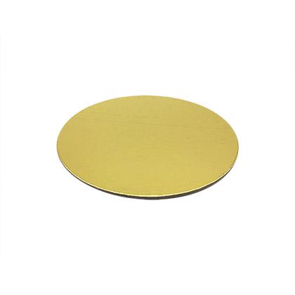 Golden Round Cake Base - Pack of 5