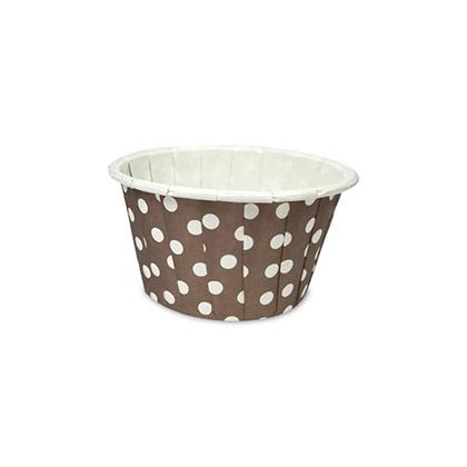 Curl Edge Brown Polka Dots Muffin Cups