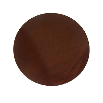 Brown Round Wooden Cake Stand