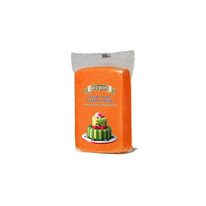 Orange Vizyon Sugar Paste 250 grms
