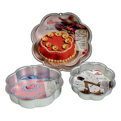 3 Pc Mixed 8 Petal Flower Cake Mould