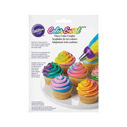 3pcs Color Swirl Cupcake Decorating Set