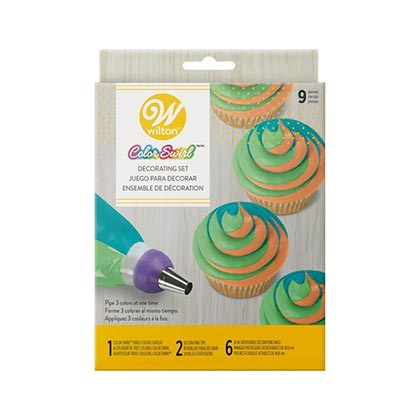 9pcs Color Swirl Cupcake Decorating Set