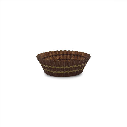 Round Chocolate Paper Cup - Pack of 100