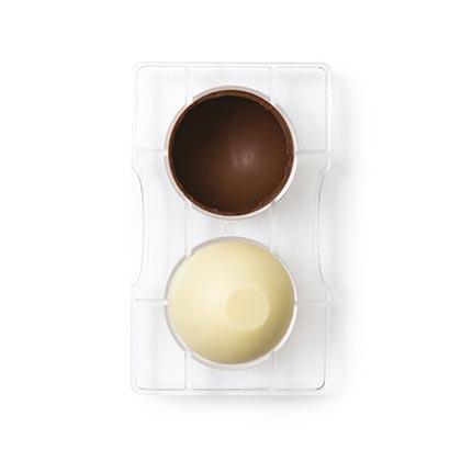 Chocolate Mould 2 Cavity Hemisphere