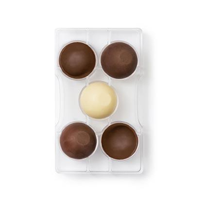 Chocolate Mould 5 Cavity Hemisphere