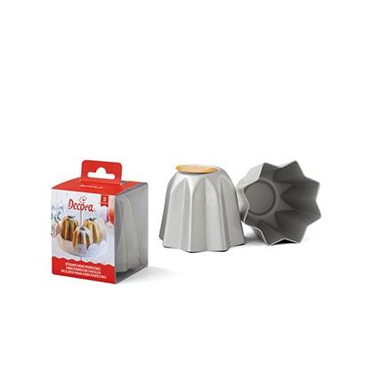 Aluminum Mini-Pandoro Mold - 3 pcs