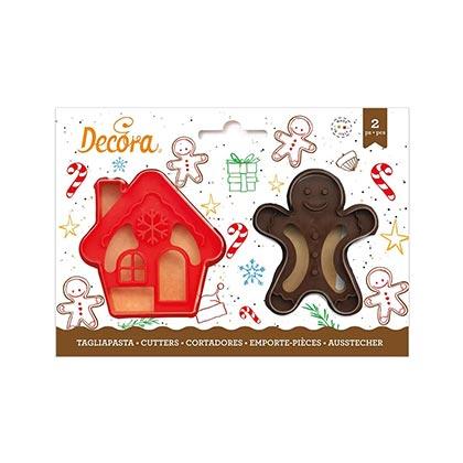 2pcs Gingergread Man & House Cutter