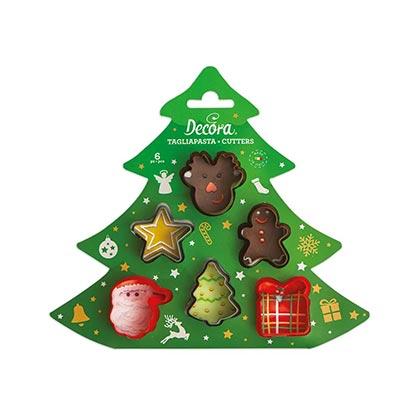 6pcs Christmas Mini Cookie Cutter