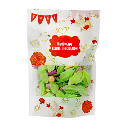 Multi Colour Edible Flower with Leaf