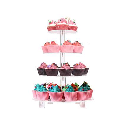 4 Tier Round Cupcake Stand - 8X10X12X14