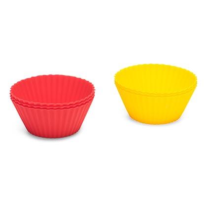 Silicone Cupcake Cases 6 Pcs Dia 5 Cm