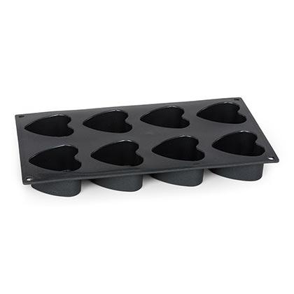 Mini Heart Cake Pan 8 Cup 29 X 17 Cm