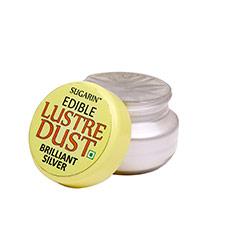 Sugarin Edible Brilliant Silver Lustre Dust