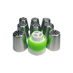 8pc Russian Nozzle with Piping Bag