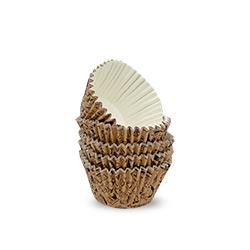 Brown Floral Cardboard Baking Cups