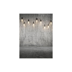 Concrete Wall with Lamps