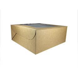 Kraft Paper Cake Box with Window - 10X10X4
