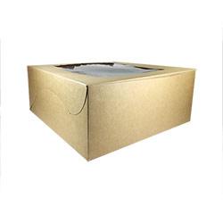 Kraft Paper Cake Box with Window - 12X12X5