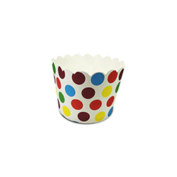 Flat Base Colorful Polka Dots Muffin Cups