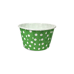 Curl Edge Green Polka Dots Muffin Cups