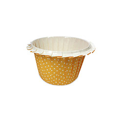 Flower Edge Orange Polka Dots Muffin Cups