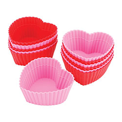 Wilton Heart Silicone Baking Cup - 12 Pc